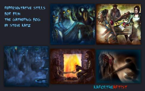 The Gathering Fog Illustrations for Steve Katz