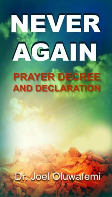 Never Again Prayer Decree Book Cover