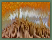 Coloured Planet Fungi - A manipulated photo of mushrooms.