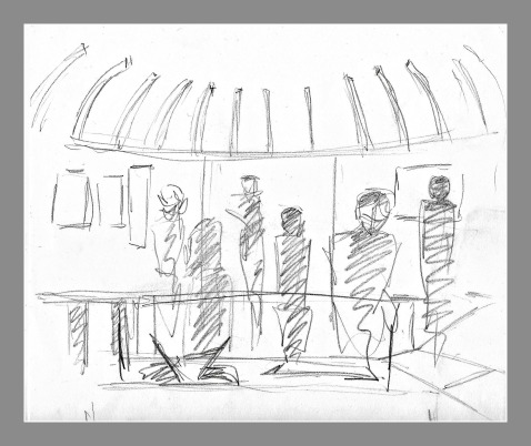 Bedlam Exhibition Drawing