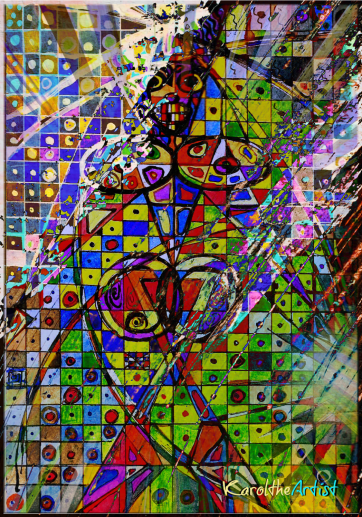 Self Portrait made of Shapes